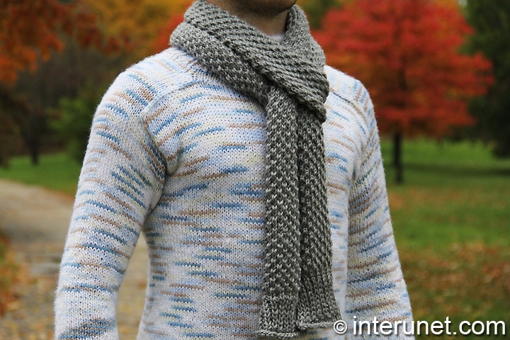 How to knit a scarf for a man | interunet