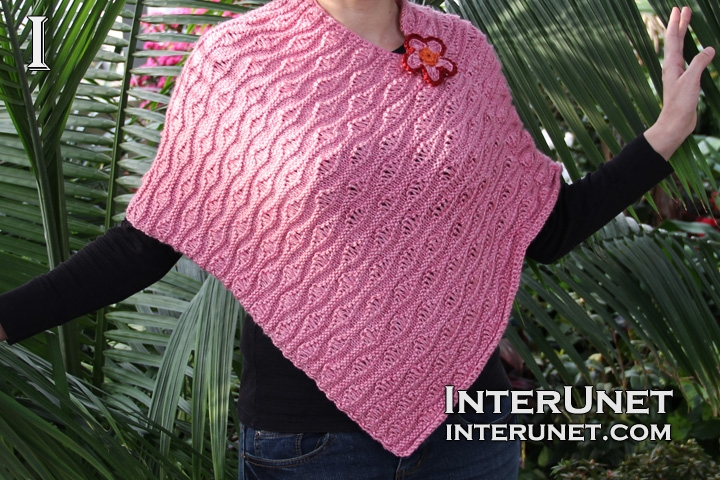 knitted-poncho-with-flower
