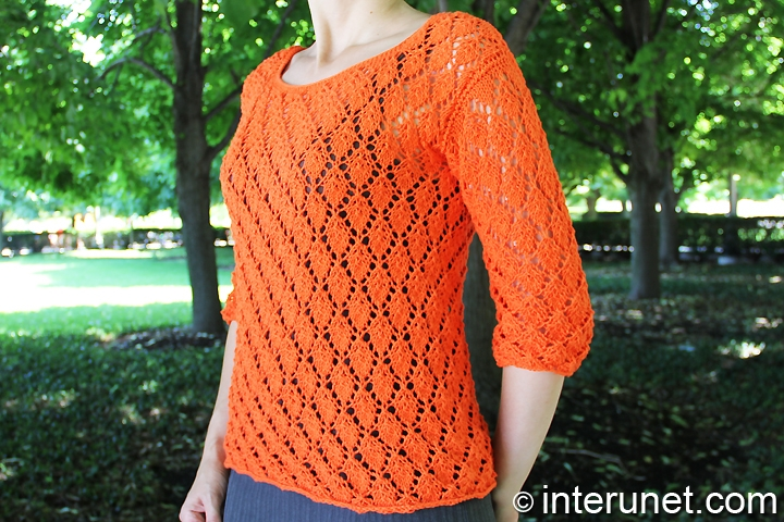 knitted-women's-blouse