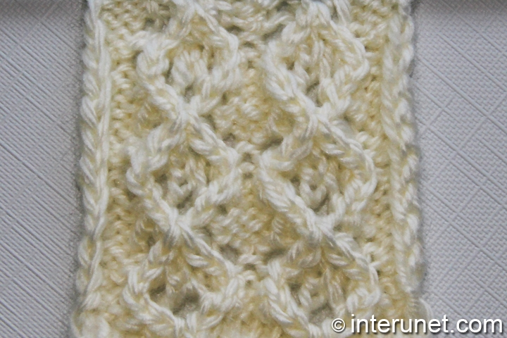 fancy diamond free knitting pattern