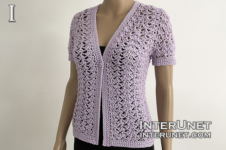 lace cardigan crochet free pattern