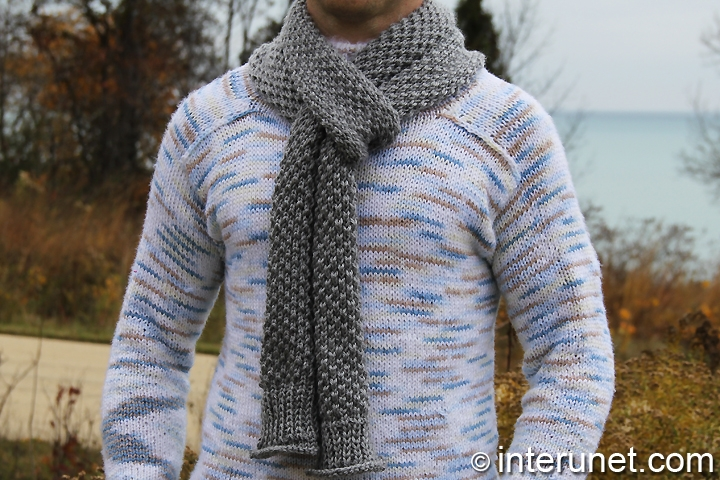 Knitting Scarf Patterns For Men : How to knit a scarf for a man interunet