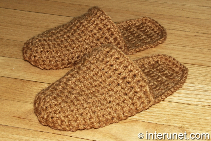 How To Crochet Slippers For A Man Interunet