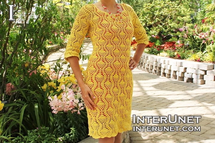 pineapple-stitch-dress-crochet-pattern