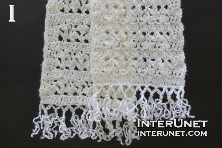 Crochet lace scarf | interunet
