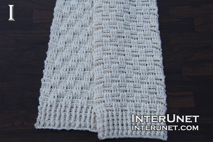 Double Crochet Stitch Scarf Interunet