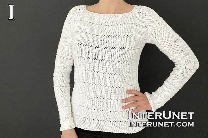 simple sweater knitting pattern