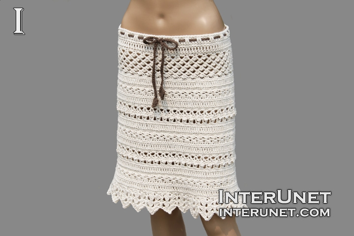 Crochet lace skirt | interunet