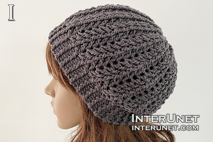 stylish slouchy beanie hat crochet pattern