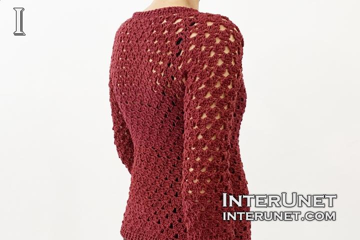 lace sweater crochet pattern