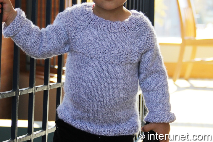 Free Knitting Pattern Child s Raglan Cardigan : How to knit a raglan sweater for a child interunet