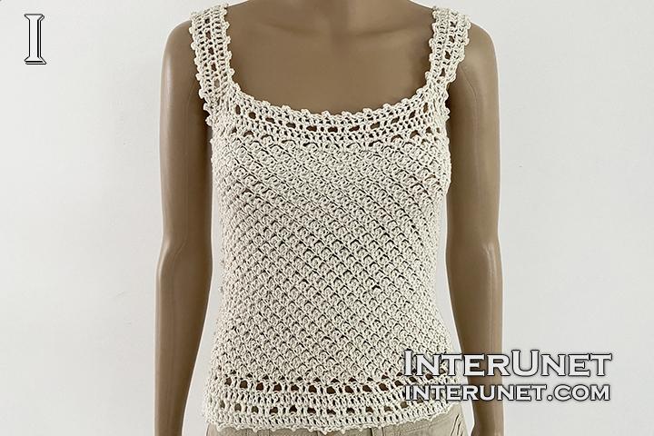 tank top free crochet pattern