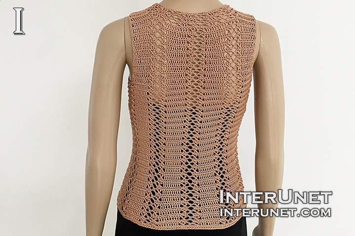 turtleneck sleeveless vest top free crochet pattern