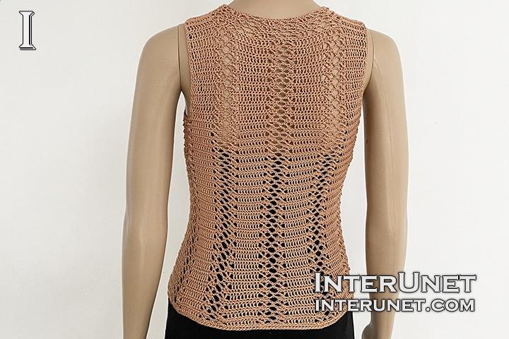 turtleneck sleeveless vest top free crochet pattern