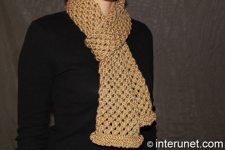 Knitting Patterns For Women : Womens Knitted Scarves images