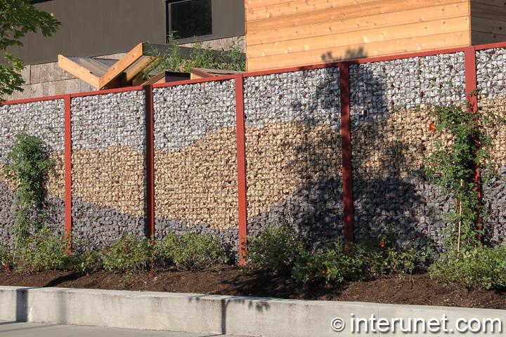stylish screen on metal fence