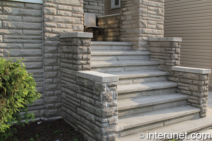 Stylish Concrete Steps To Front Porch Interunet