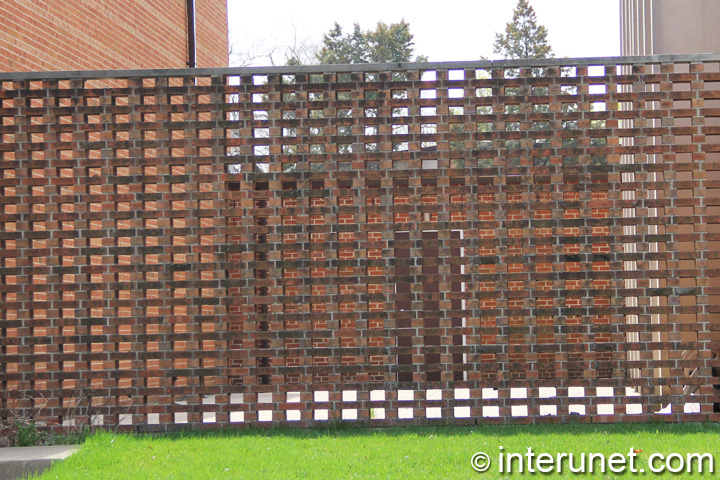 Fence Brick Wall Design : Stylish simple brick fence design interunet