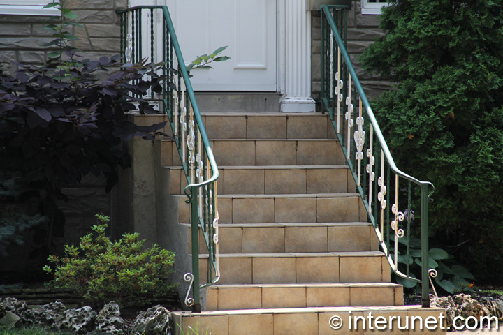 tile-steps-metal-railing-combination