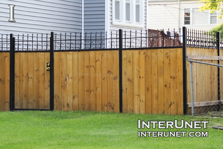 Metal And Wood Fence Www Pixshark Com Images Galleries