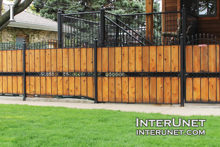 wood-fence-with-steel-design-ideas