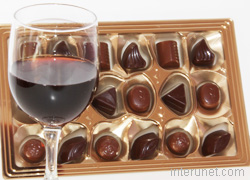 chocolate-candies-glass-of-wine