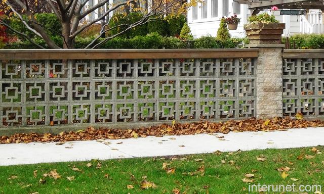 decorative concrete block for fences Quotes