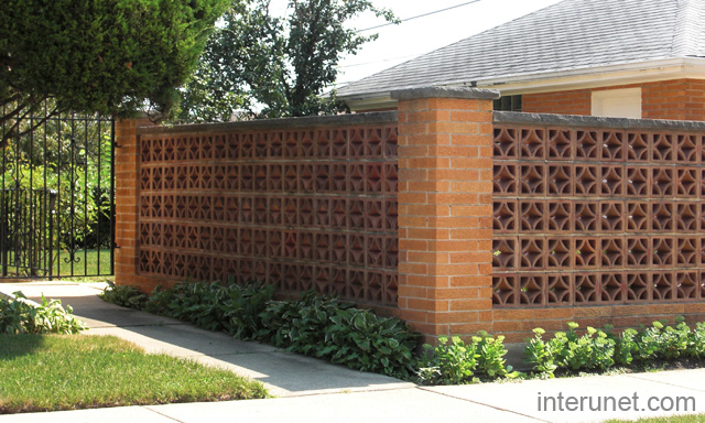 Brick fence decorative block picture interunet