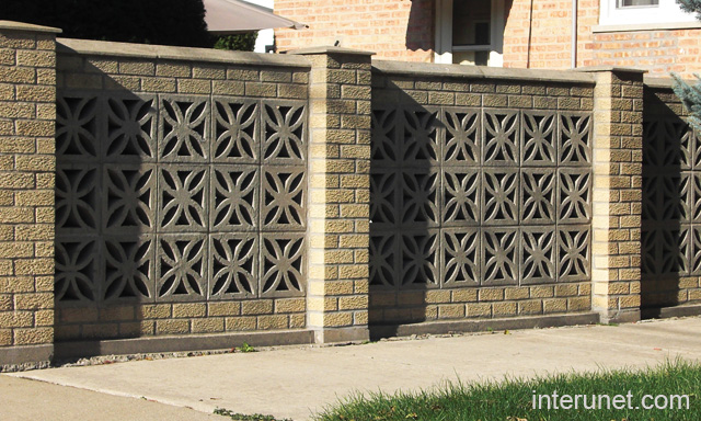 Masonry Fence Design Fence ideas types installation cost design interunet brick fence decorative blocks workwithnaturefo