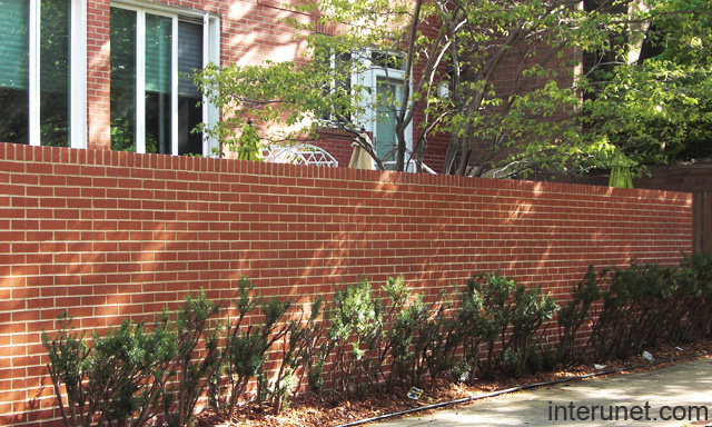 Brick Fence Simple Design