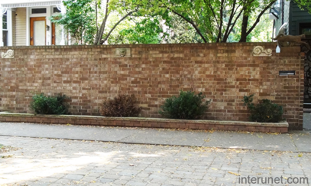 Brick Fence With Decorative Elements Picture Interunet