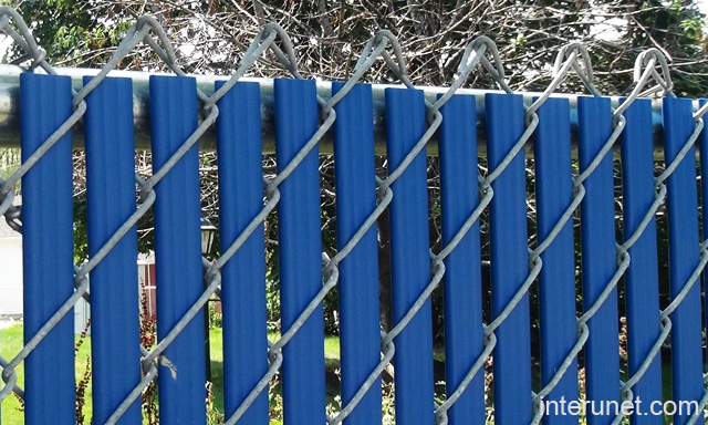Chain link fence blue privacy slats picture interunet chain link fence blue privacy slats workwithnaturefo
