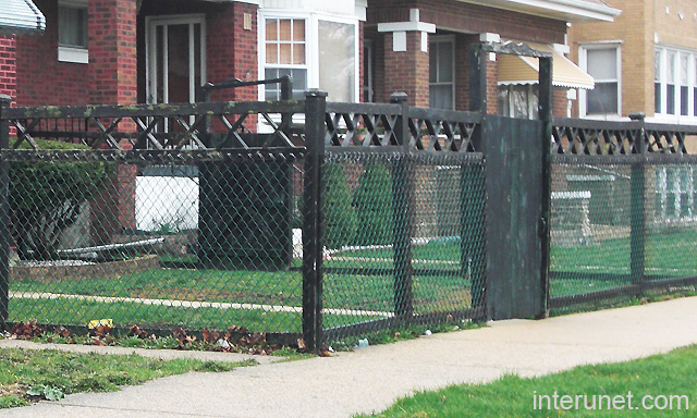 Chain Link With Wood Fence