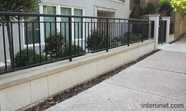 Concrete And Iron Fence Designs Thesouvlakihousecom - Cinder block wall fence ideas