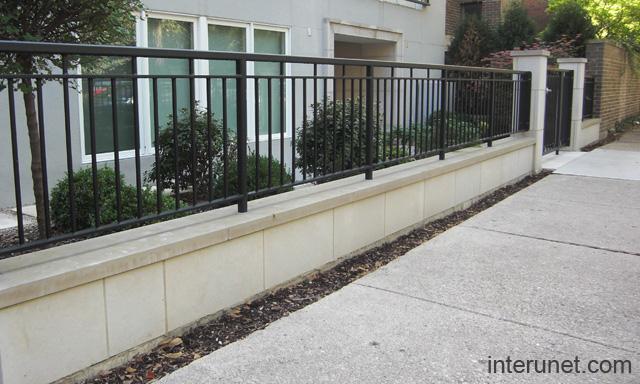 Concrete Blocks Steel Fence Picture Interunet
