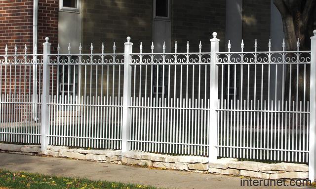 Decorative metal fence white picture interunet
