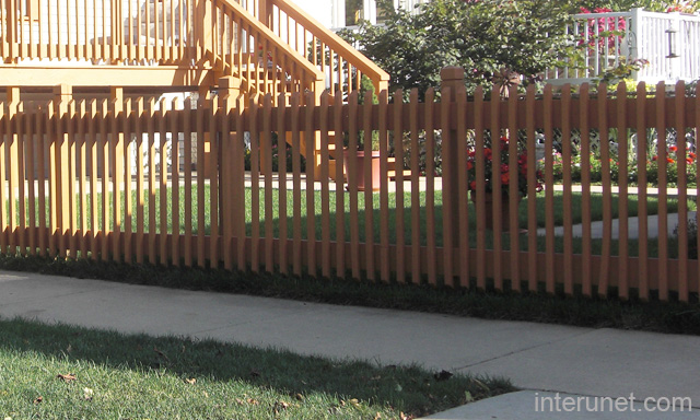 Low Wooden Fence Staxel: Decorative Wood Fence Low Picture