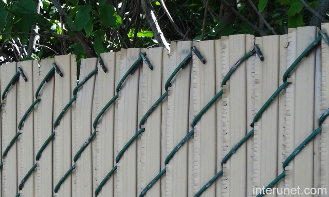 Grey Privacy Slats Chain Link Fence Picture Interunet