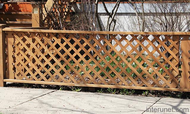 Low Lattice Fence Picture
