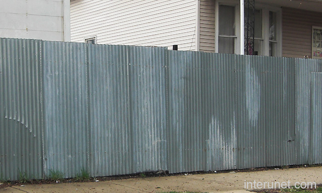Metal Sheets Fence Picture Interunet