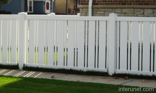 vinyl fence designs. Semi-privacy-vinyl-fence Vinyl Fence Designs I