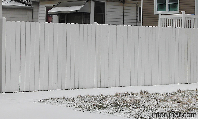 Simple White Wood Fence