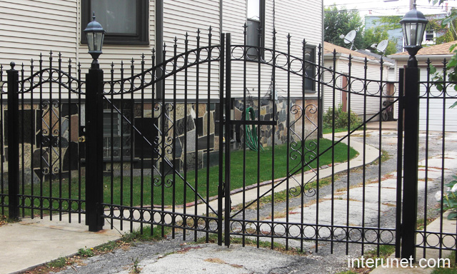 Steel Fence With Gates Picture Interunet