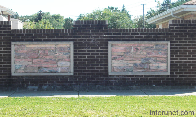Fence Brick Wall Design : Stone brick fence picture interunet
