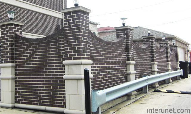 Fence Brick Wall Design : Stylish brick wall privacy fence picture interunet