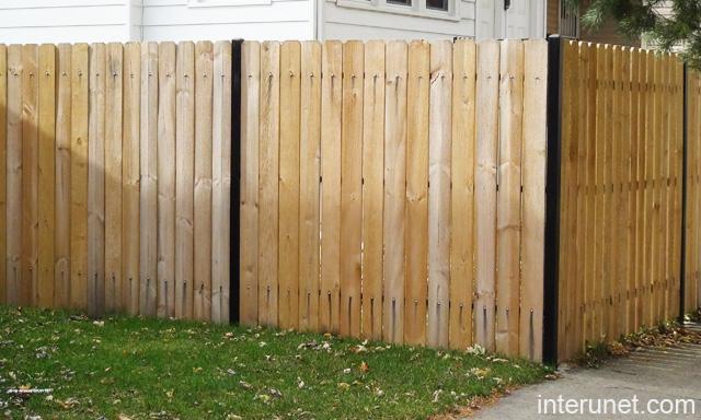 Wood Fence Steel Posts Picture Interunet