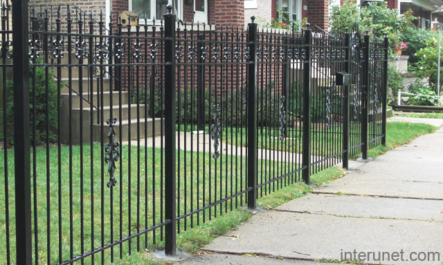 Wrought Iron Fence Designs. Wrought-iron-fence Wrought Iron Fence ...